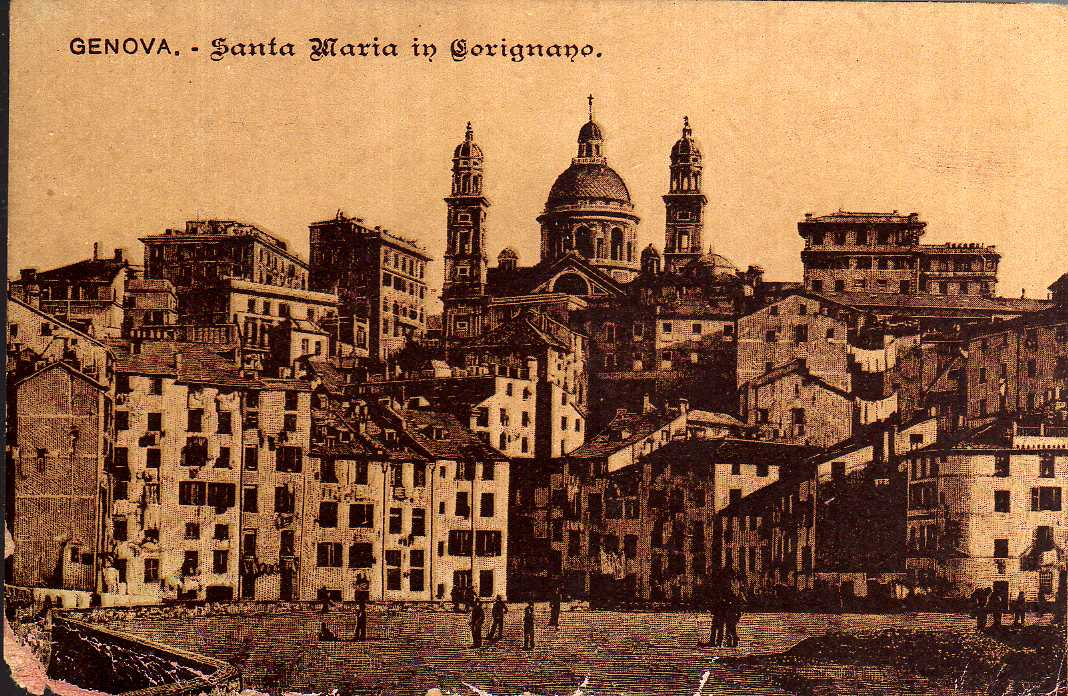 Carignano, cartolina antica