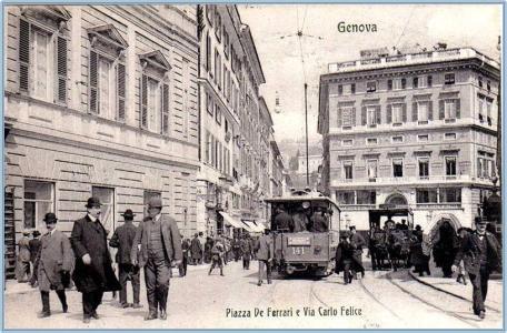 Genova, cartolina antica
