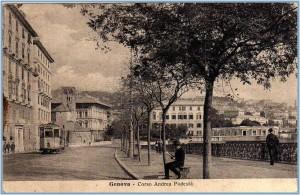 Genova Carignano, cartolina antica