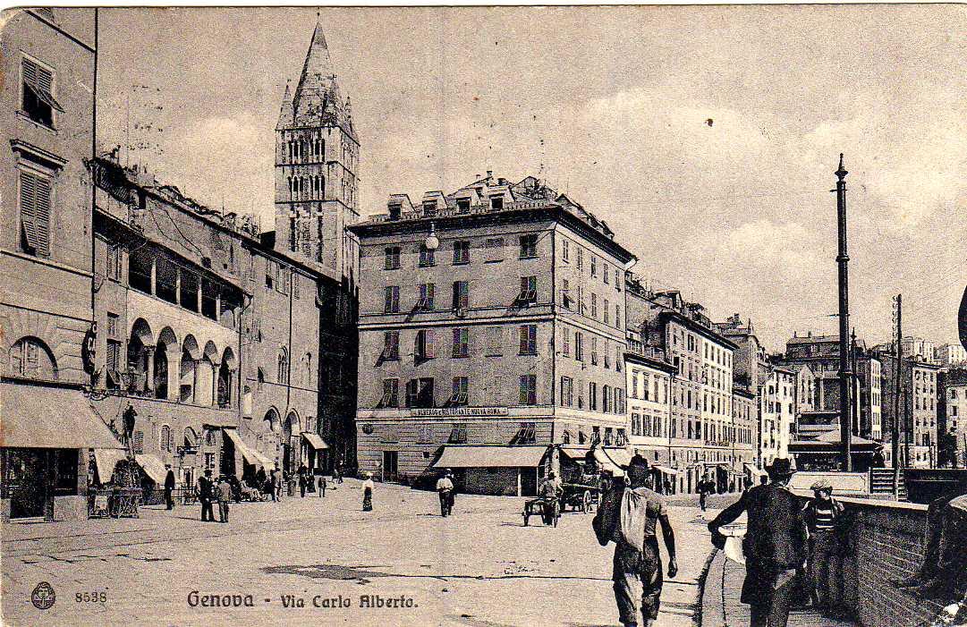 Commedna di Pré, cartolina antica di Genova