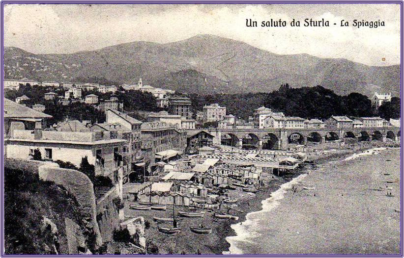Genova Sturla, cartolina antica