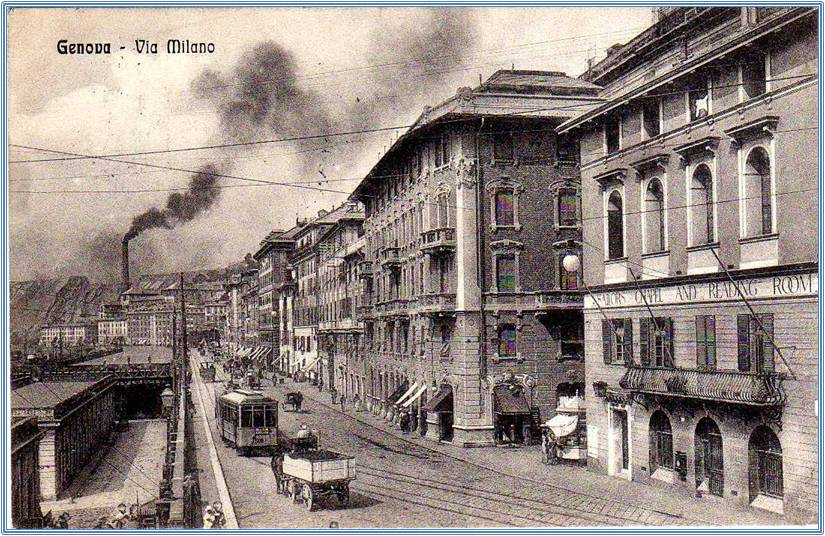 Genova antica, via Milano