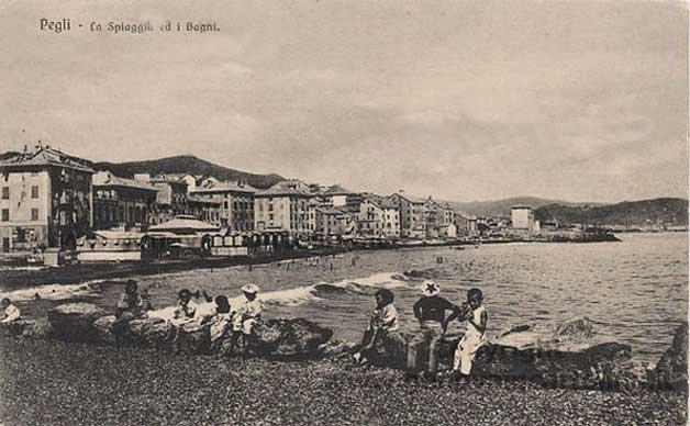 Genova Pegli, cartolina antica