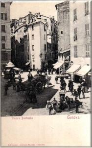 Piazza Ponticello, Genova - Cartolina Antica