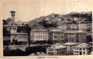 Genova, circonvallazione a monte - Cartolina antica