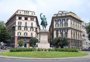 Genova, piazza Corvetto