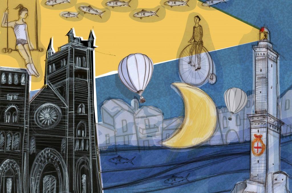 Genova, illustrazione di Nicoletta Mignone