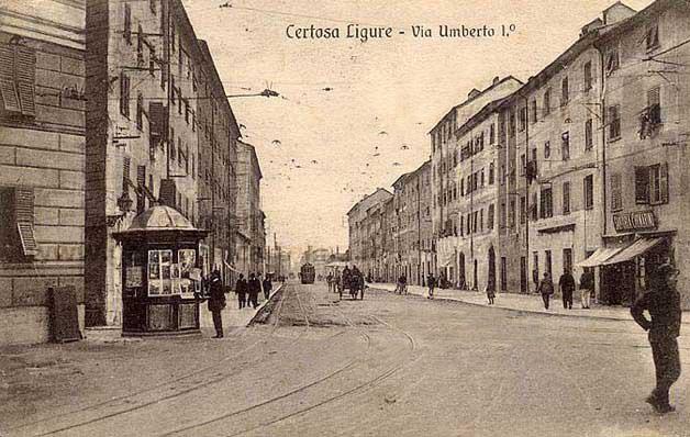 Certosa, Genova - cartolina antica