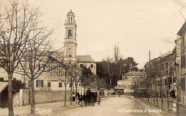 Genova Albaro, cartolina antica