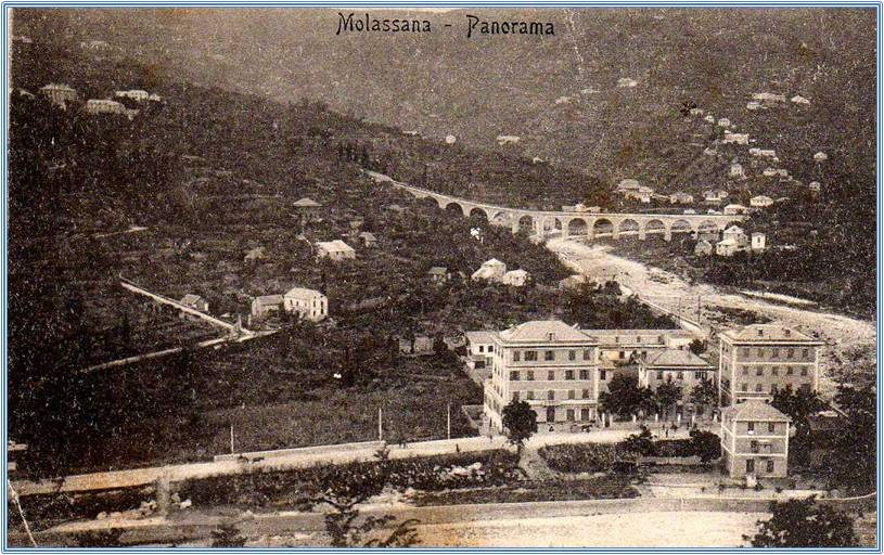 Val Bisagno, Genova - cartolina antica