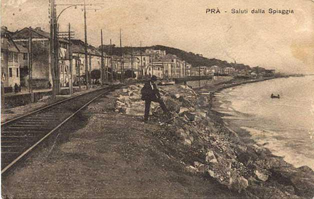 Genova Prà, cartolina antica