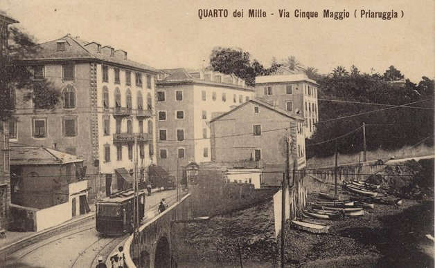 Genova Quarto, cartolina antica