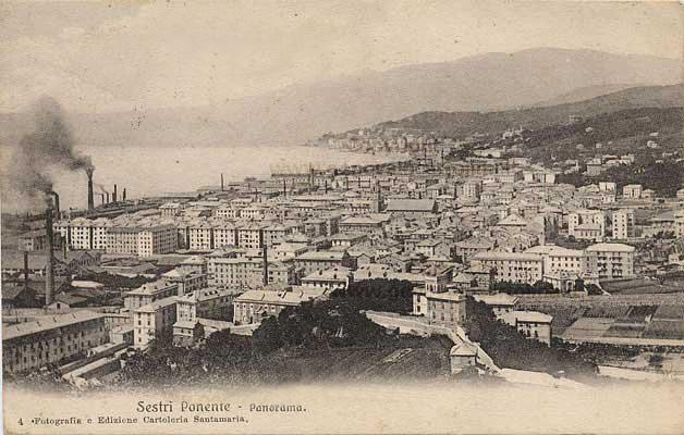 Sestri Ponente, Genova - cartolina antica