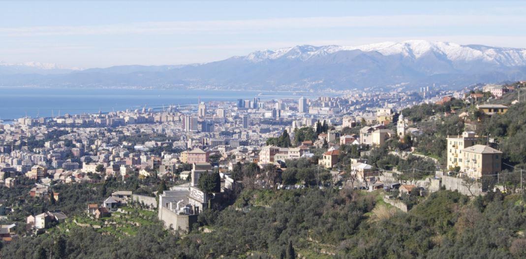genova monte moro strada panoramica veduta paesaggio